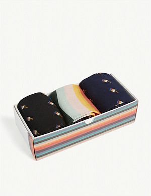 PAUL SMITH Artist Stripe & Ice lolly print socks gift set