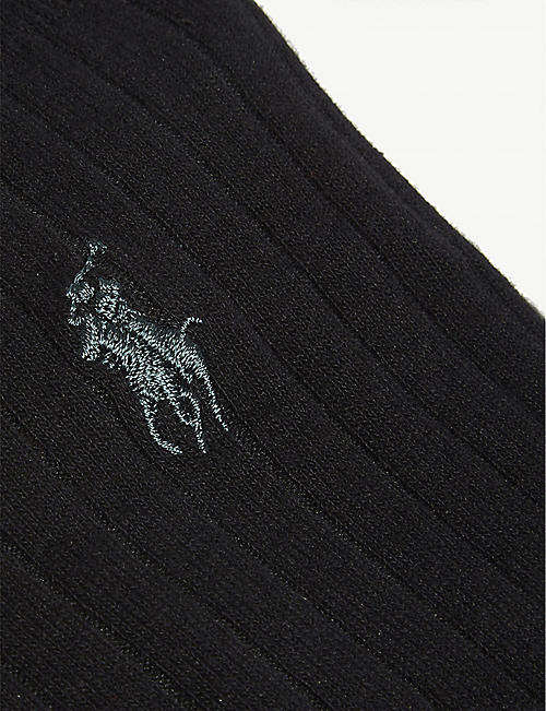POLO RALPH LAUREN Logo ribbed Egyptian cotton-blend socks set of three