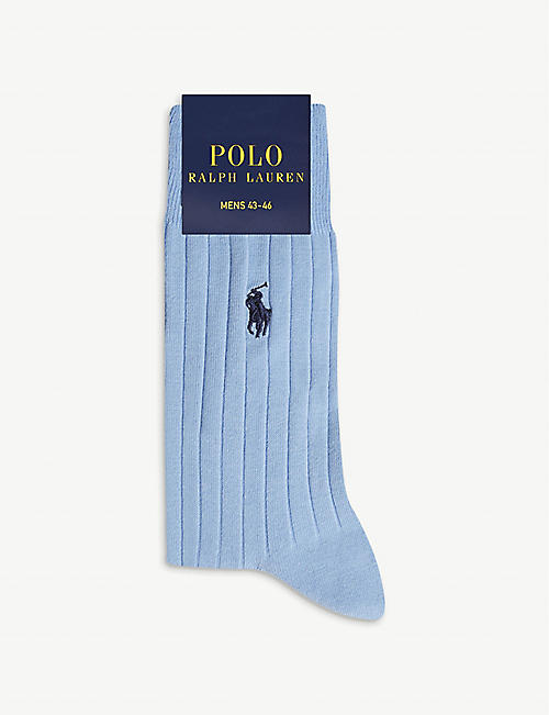 POLO RALPH LAUREN Logo Egyptian cotton socks
