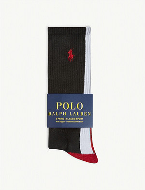 POLO RALPH LAUREN Three pack sport socks