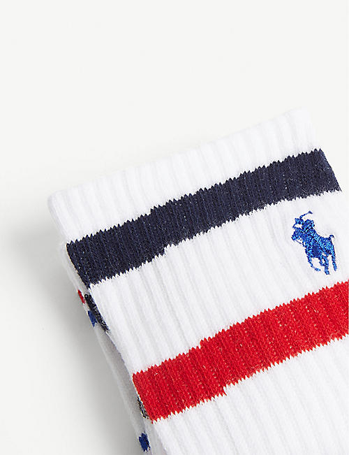 POLO RALPH LAUREN Set of three logo cotton-blend sport socks