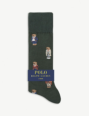 POLO RALPH LAUREN Polo Bear cotton-blend socks pack of two