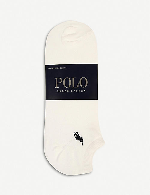 POLO RALPH LAUREN: Pack of three trainer socks