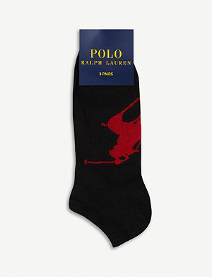 POLO RALPH LAUREN Pack of three Big Pony sports socks