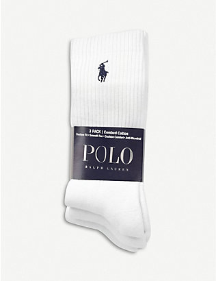 POLO RALPH LAUREN: Ribbed cotton socks pack of three