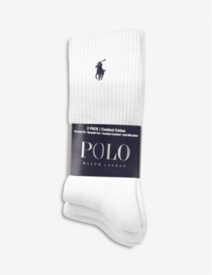 POLO RALPH LAUREN Ribbed cotton socks pack of three