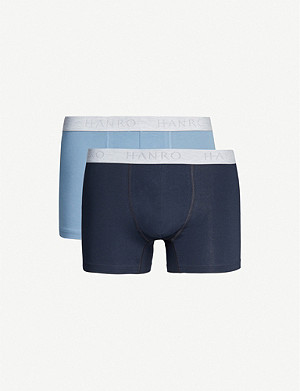 HANRO Essentials cotton trunks pack of two