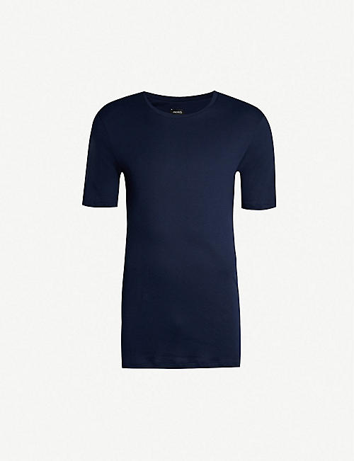 HANRO: Sea Island cotton-jersey T-shirt