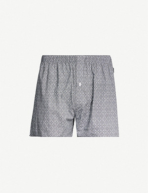HANRO Patterned regular-fit cotton boxers