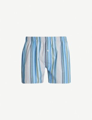 HANRO Check cotton boxers