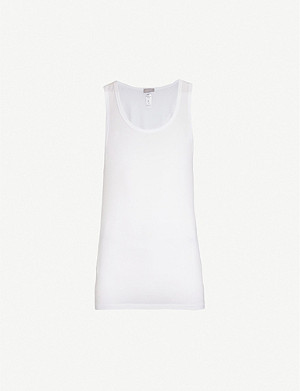 HANRO Cotton Superior cotton-blend vest top