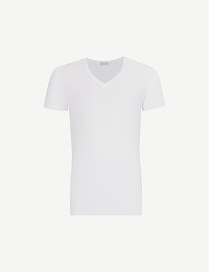HANRO Cotton Superior cotton-blend T-shirt