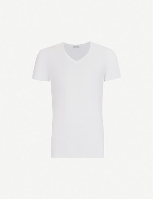 HANRO: Cotton Superior cotton-blend T-shirt