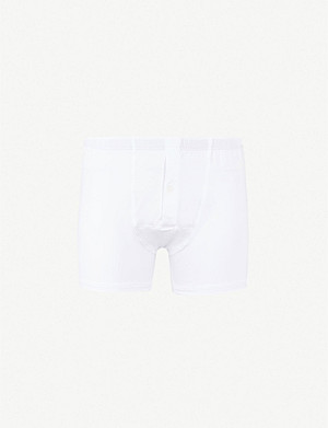 HANRO Slim-fit stretch-cotton trunks