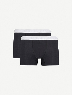HANRO Pack of two Cotton Essentials stretch-cotton trunks