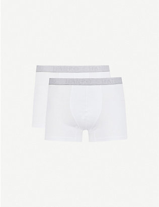 HANRO: Pack of two Cotton Essentials stretch-cotton trunks