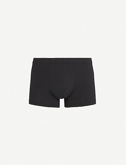 HANRO Elasticated slim-fit stretch-cotton trunks
