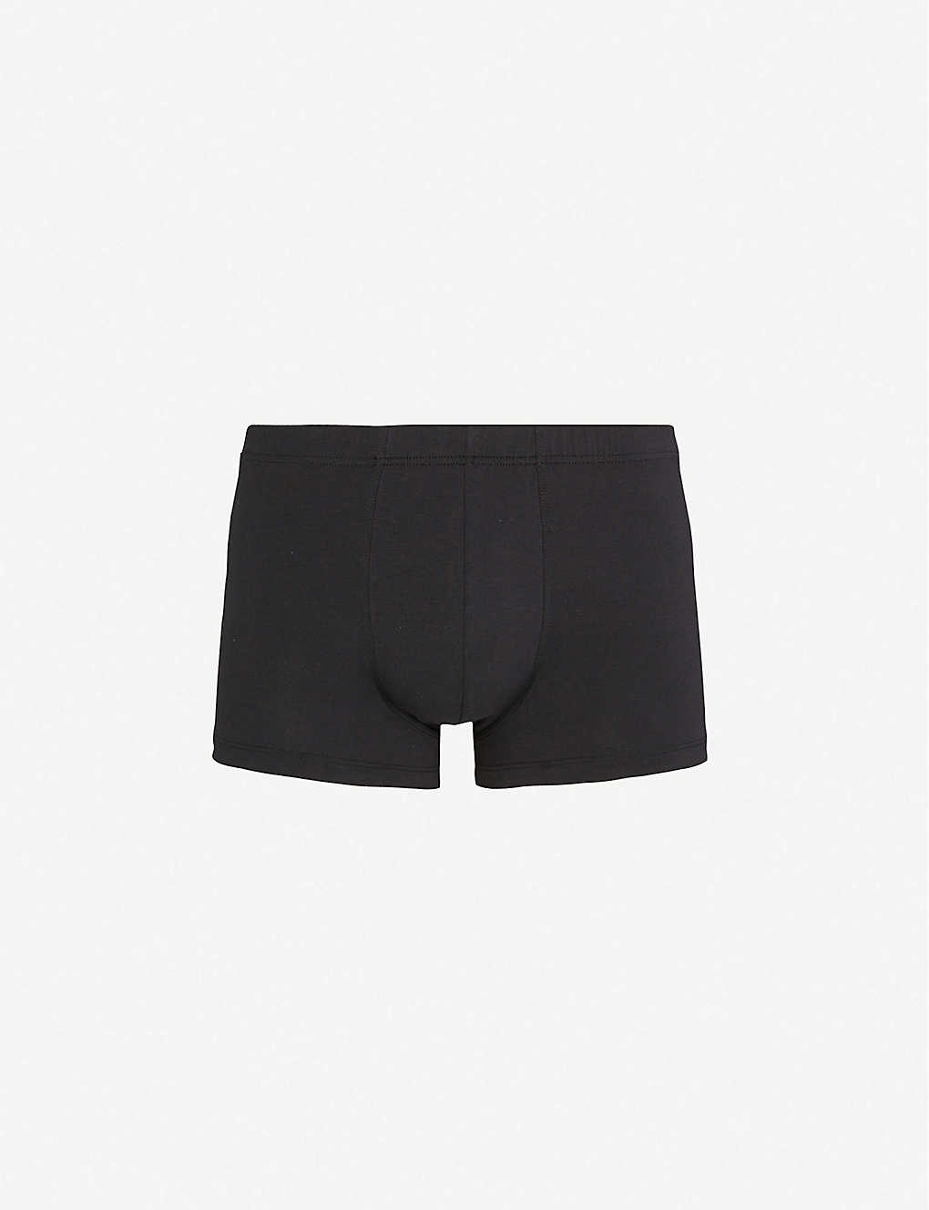 HANRO: Elasticated slim-fit stretch-cotton trunks