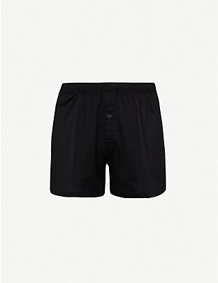 HANRO: Sporty regular-fit cotton boxers