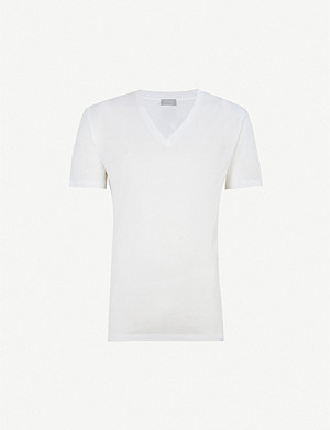 HANRO Cotton Sporty cotton-jersey T-shirt