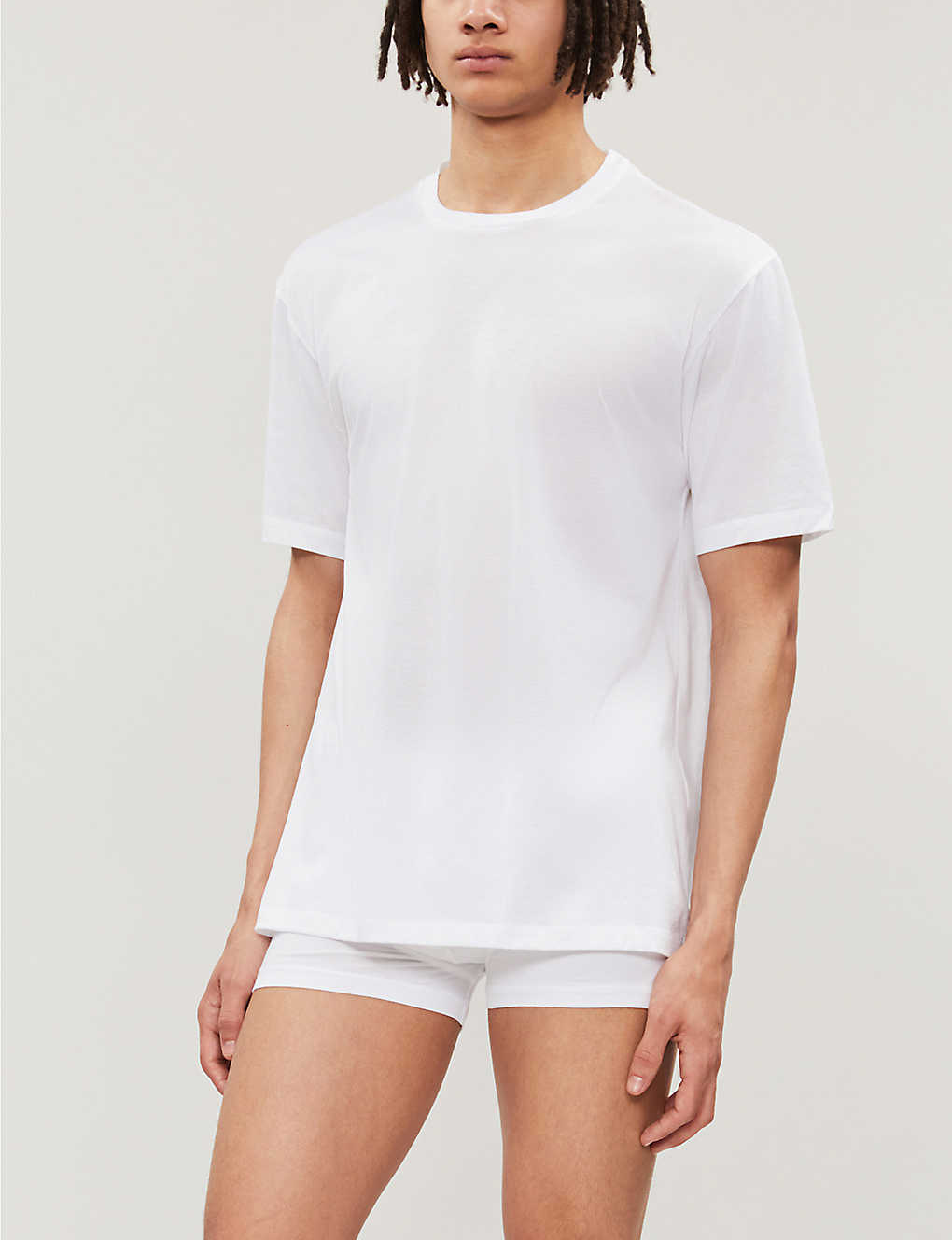 HANRO: Cotton Sporty cotton-jersey T-shirt