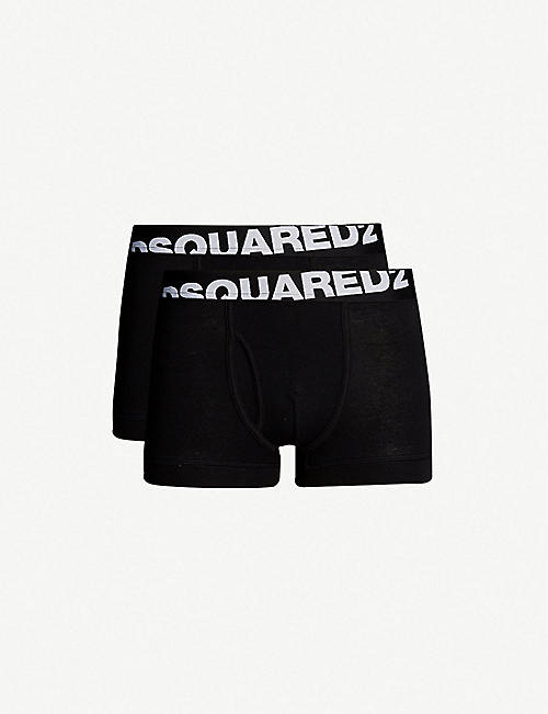 e03e0602448 DSQUARED2 Logo-detail pack of two stretch-cotton trunks