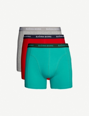 BJORN BORG Pack of three perfect-fit cotton-jersey boxer briefs