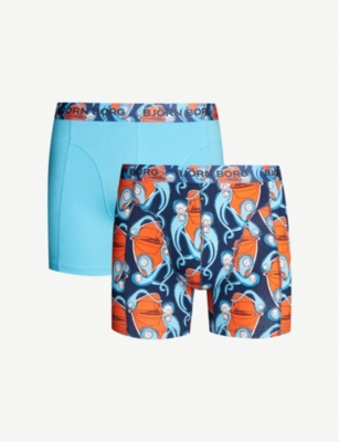 BJORN BORG Björn Borg x Charles Jeffrey LOVERBOY Squirm pack of two soft-combed stretch-cotton trunks