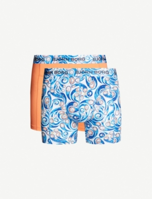 BJORN BORG Björn Borg x Charles Jeffrey LOVERBOY Squiggle pack of two soft-combed stretch-cotton trunks