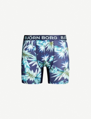 BJORN BORG Floral-print perfect-fit stretch-jersey boxer briefs