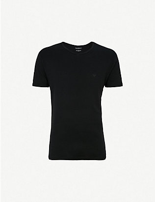 EMPORIO ARMANI: Crewneck cotton-jersey T-shirts pack of two