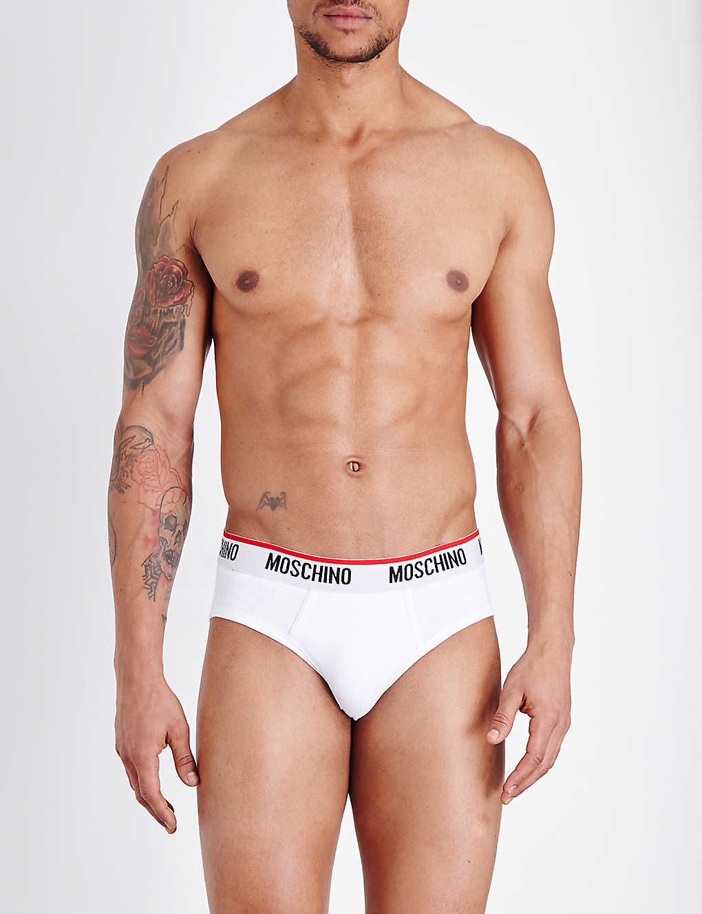 MOSCHINO: Pack of two Tape regular-fit stretch-cotton briefs