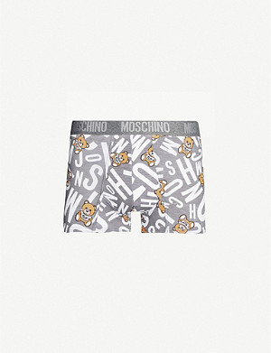 MOSCHINO Bear-print stretch-cotton trunks