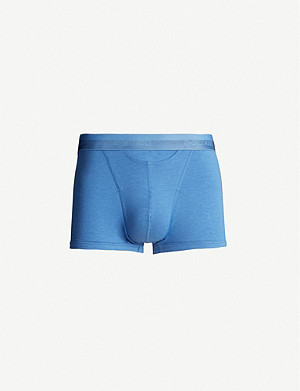 HOM Regular-fit stretch-cotton trunks