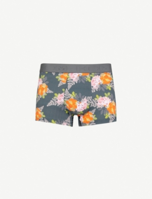 HOM Floral-pattern stretch-cotton trunks