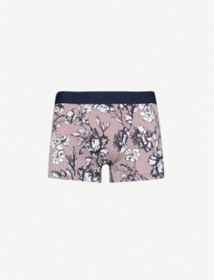 HOM Floral and stripe-pattern stretch-cotton trunks