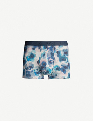 HOM Aquaflowers stretch-cotton trunks
