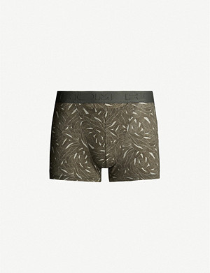 HOM Foliage stretch-jersey trunks