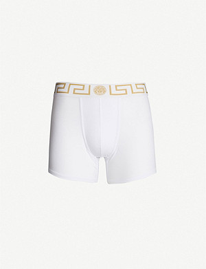 VERSACE Iconic stretch-cotton trunks