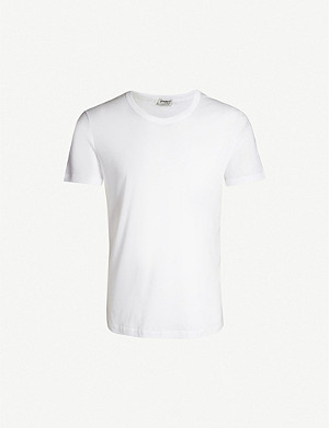 ZIMMERLI Crewneck cotton-jersey T-shirt