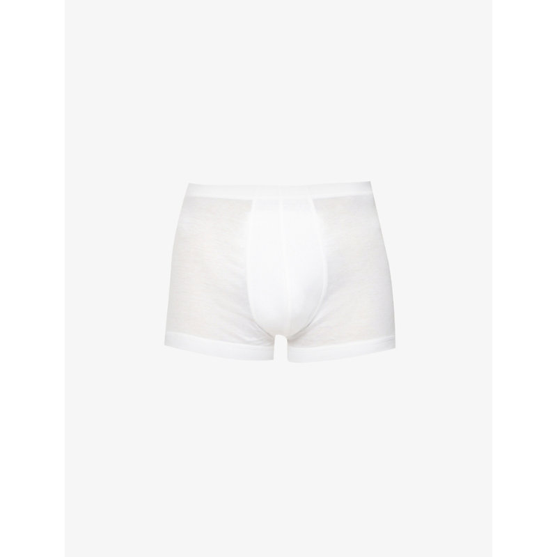 ZIMMERLI   Zimmerli Stretch-Cotton Trunks, Mens, Size: XL, White   Goxip