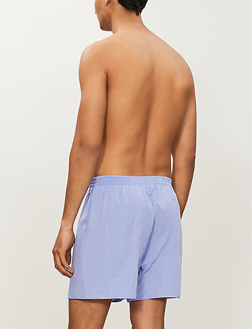 ZIMMERLI Woven relaxed-fit cotton boxer shorts