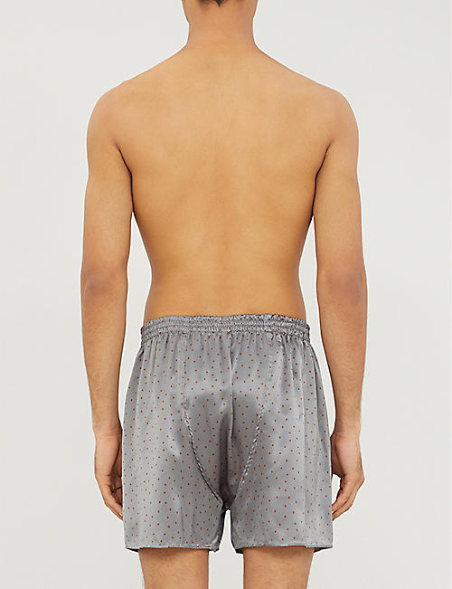 ZIMMERLI Patterned relaxed-fit silk boxer shorts