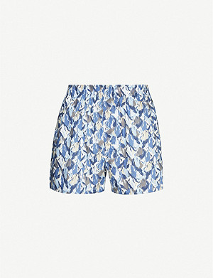 SUNSPEL Liberty Blue Peaks regular-fit cotton boxers