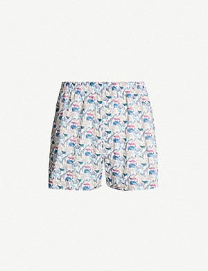 SUNSPEL Liberty-print regular-fit cotton boxer shorts