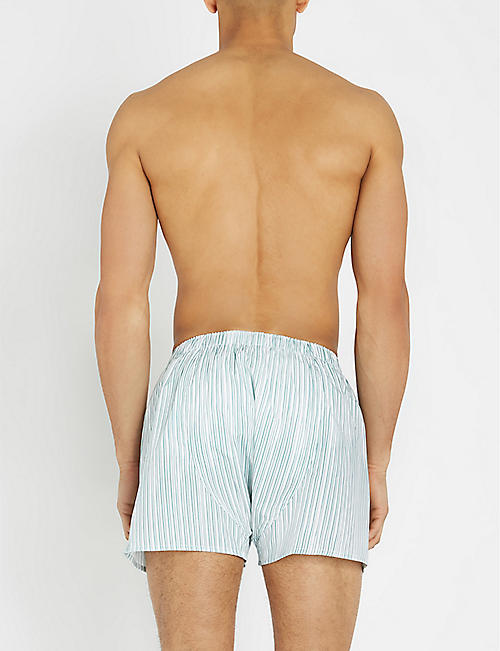 SUNSPEL Printed relaxed-fit cotton-woven boxers