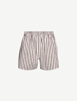 SUNSPEL Striped cotton boxers