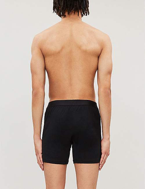SUNSPEL Superfine slim-fit Egyptian cotton boxer shorts