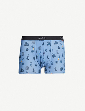 PAUL SMITH London-print slim-fit stretch-cotton trunks