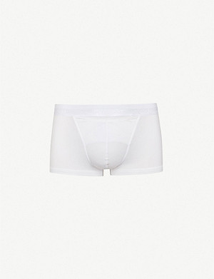 HOM H01 Maxi slim-fit stretch-jersey trunks
